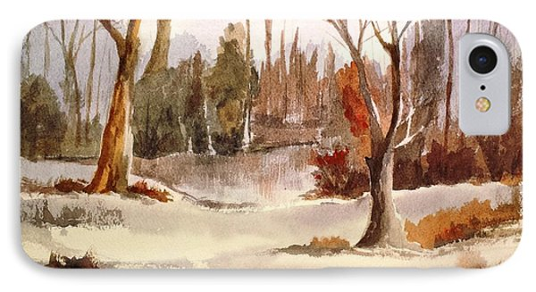 Woods By The Lake IPhone Case by Larry Hamilton