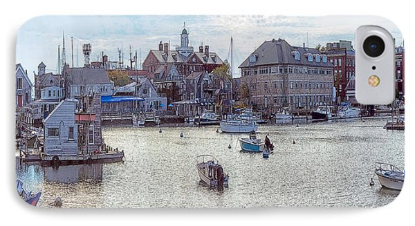 IPhone Case featuring the photograph Woods Hole Harbor by Constantine Gregory