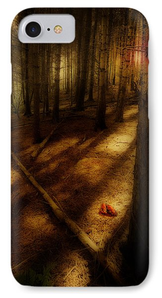 IPhone Case featuring the photograph Woods With Pine Cones by Meirion Matthias