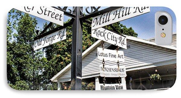 Woodstock Crossroads Phone Case by Nancy  de Flon