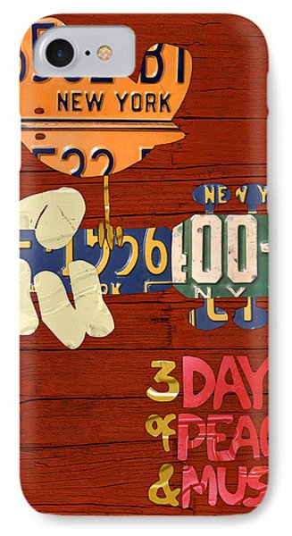 Woodstock Music Festival Poster License Plate Art IPhone Case by Design Turnpike