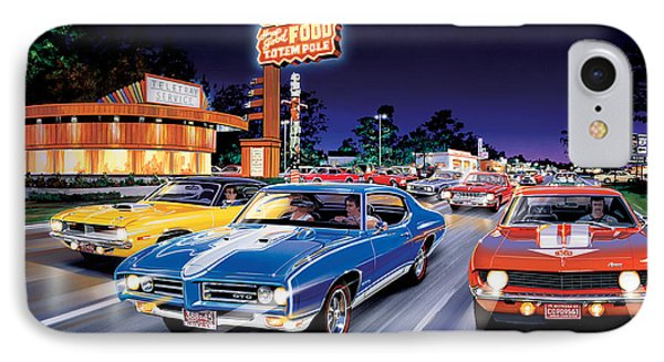 Woodward Avenue IPhone Case by Bruce Kaiser