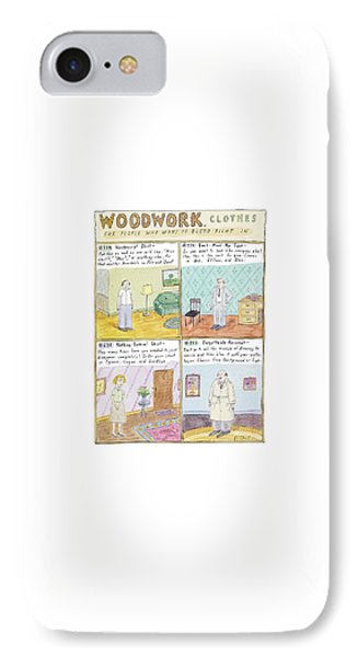 Woodwork Clothes IPhone Case