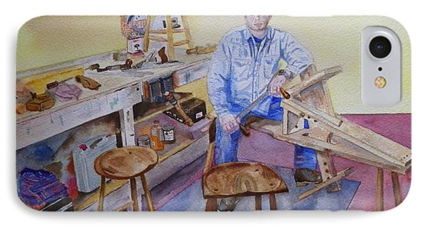 Woodworker Chair Maker IPhone Case