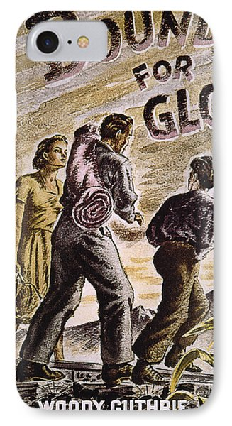 Woody Guthrie: Glory, 1943 Phone Case by Granger