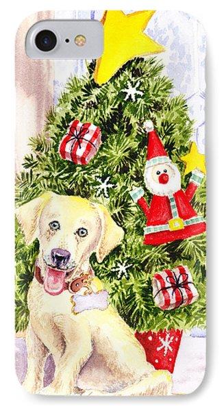 Woof Merry Christmas IPhone Case by Irina Sztukowski
