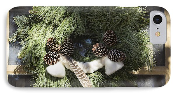Wool And Feather Wreath IPhone Case by Teresa Mucha