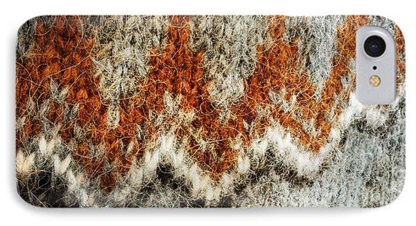 Woolen Jersey Detail Grey And Orange IPhone Case by Matthias Hauser