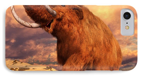 Woolly Mammoth IPhone Case by Gary Hanna
