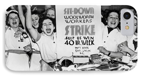 Woolworth Workers Strike Phone Case by Underwood Archives