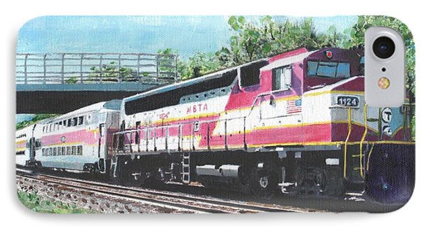 Worcester Bound T Train IPhone Case by Cliff Wilson