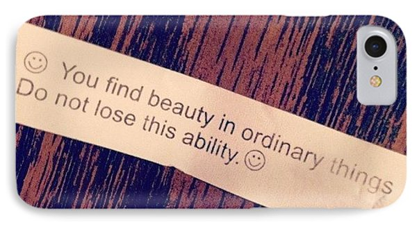 #words #fortunecookie #instaday #beauty IPhone Case by Marianna Mills