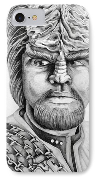 Worf IPhone Case by Judith Groeger