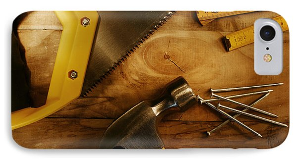 Work Tools IPhone Case by Les Cunliffe