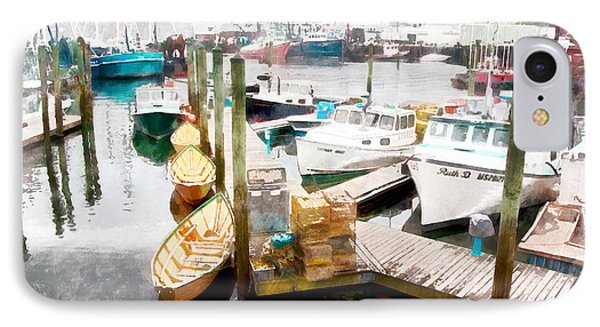 Working Harbor In Gloucester Ma IPhone Case
