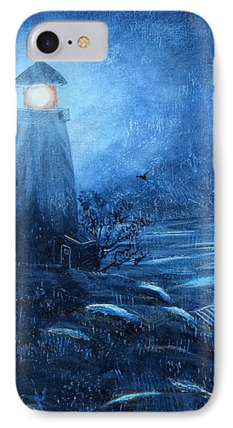 Working Night Shift In The Rain Phone Case by Barbara Griffin
