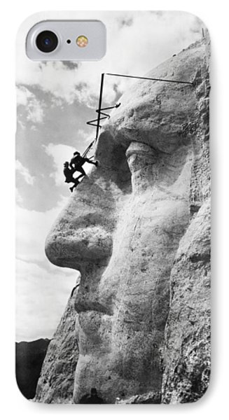 Working On Mt. Rushmore IPhone Case
