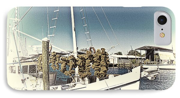 Working Sponge Boat IPhone Case by Bill Barber