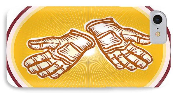 Workman Utility Gloves Retro Phone Case by Aloysius Patrimonio