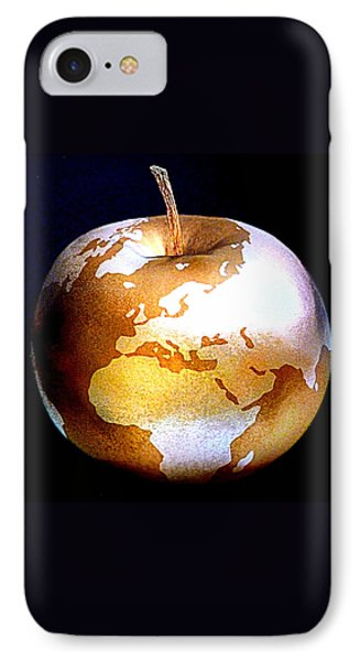 World Apple Phone Case by The Creative Minds Art and Photography