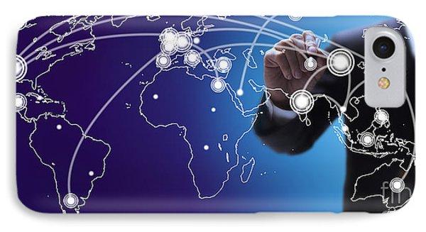 World Economies Map Phone Case by Atiketta Sangasaeng