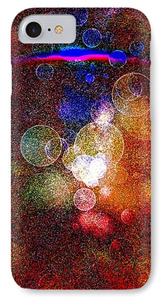 IPhone Case featuring the digital art World Explosion By Nico Bielow by Nico Bielow