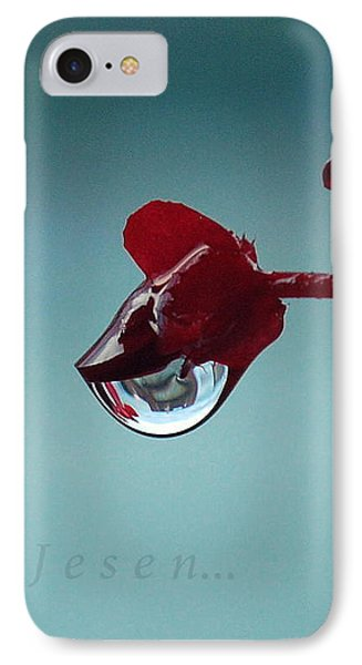 World In A Drop IPhone Case by Marija Djedovic
