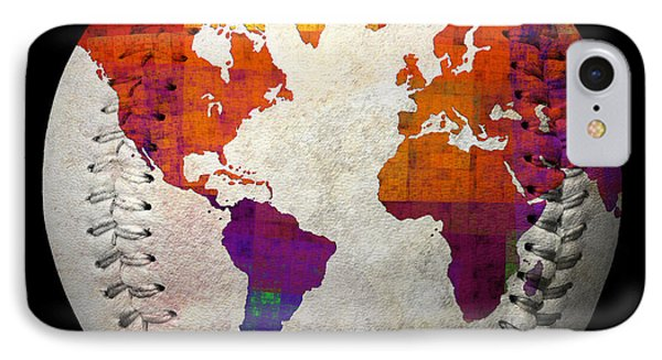 World Map - Rainbow Bliss Baseball Square IPhone Case