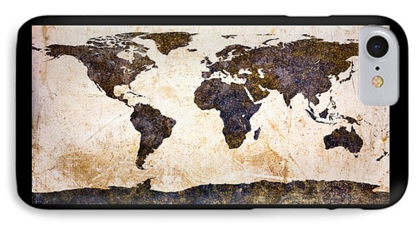 World Map Abstract IPhone Case by Bob Orsillo