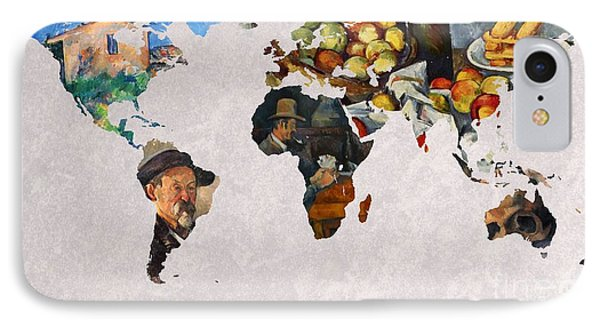 World Map Cezanne 3 IPhone Case by John Clark