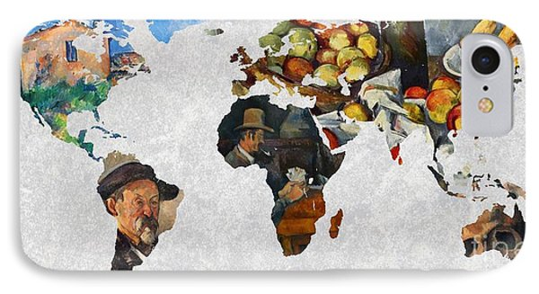 World Map Cezanne 4 IPhone Case by John Clark