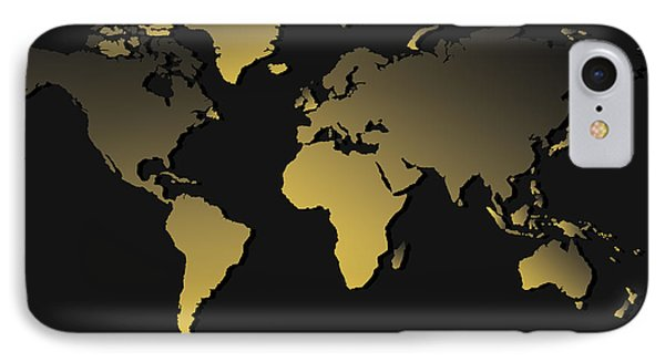 World Map Gradient IPhone Case