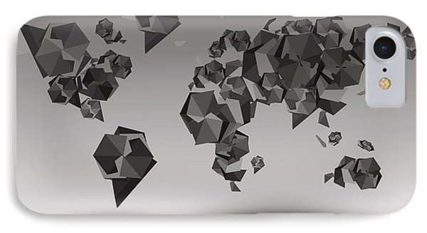 World Map In Geometric Fractal IPhone Case