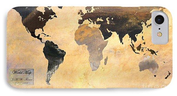 World Map   Turner 1 IPhone Case by John Clark