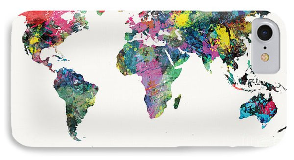 World Map Phone Case by Mike Maher