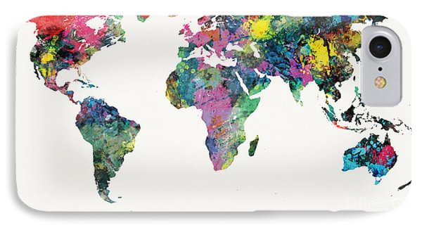 World Map IPhone Case by Mike Maher
