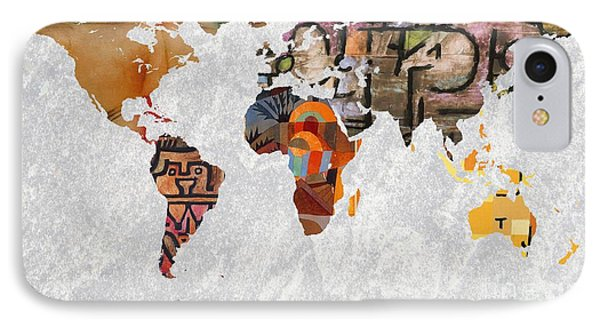 World Map  Paul Klee 2 IPhone Case by John Clark