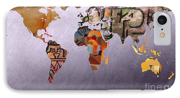 World Map  Paul Klee 4 IPhone Case by John Clark