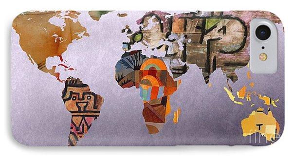 World Map  Paul Klee 5 IPhone Case by John Clark