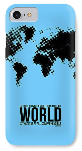 World Map Poster Phone Case by Naxart Studio