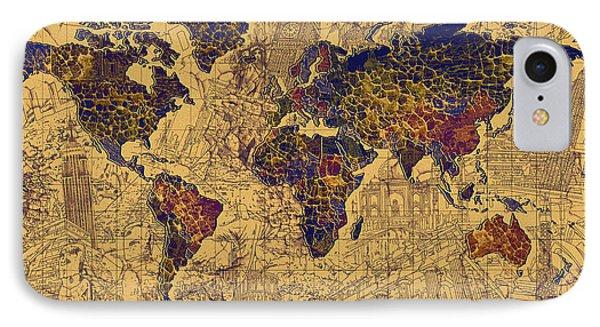 World Map Vintage IPhone Case