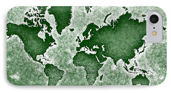 World Map You Are Here Novo In Green IPhone Case by Eleven Corners