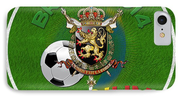 World Of Soccer 2014 - Belgium Phone Case by Serge Averbukh