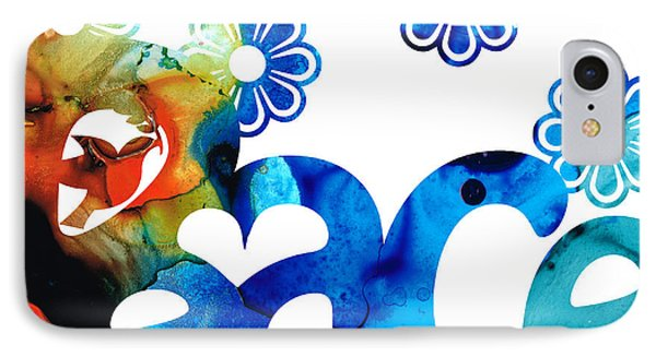 World Peace 3 - Loving Art IPhone Case by Sharon Cummings