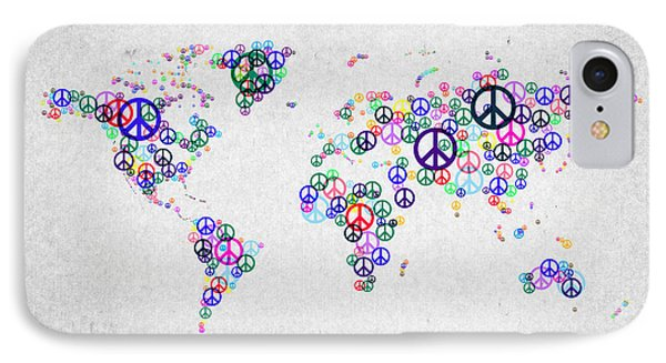 World Peace Map Phone Case by Aged Pixel