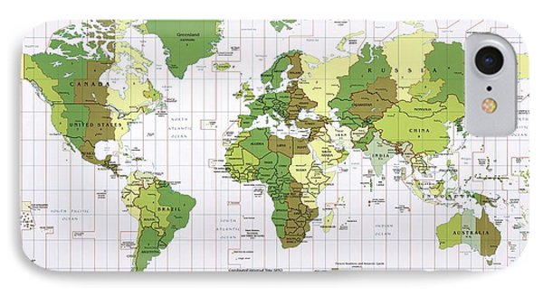 World Time Zones IPhone Case