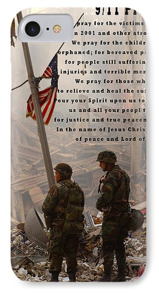 World Trade Center 9 11 Prayer IPhone Case by Andrea Booher