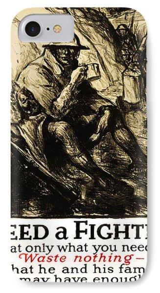 World War 1 - U. S. War Poster IPhone Case by Daniel Hagerman