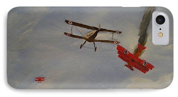 World War I Dogfight 3 Planes In Battle Phone Case by Carl S Kralich