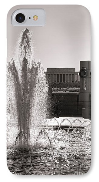 World War II Memorial Fountain IPhone Case by Olivier Le Queinec